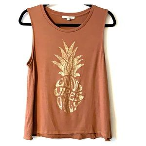 """Express tank top """"Good Vibes Only"""" 🍍 - small"""